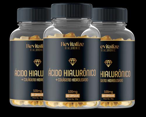 3 potes Revitalize Hialuronic