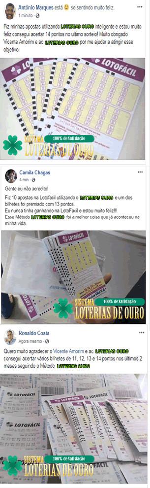 Loterias de Ouro - Sistema para Lotofácil