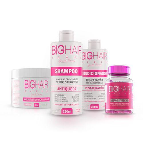Kit Cabelo dos Sonhos (1 Big Hair Feminino + 1 Máscara de Hidratação + 1 Shampoo + 1 Condicionador)