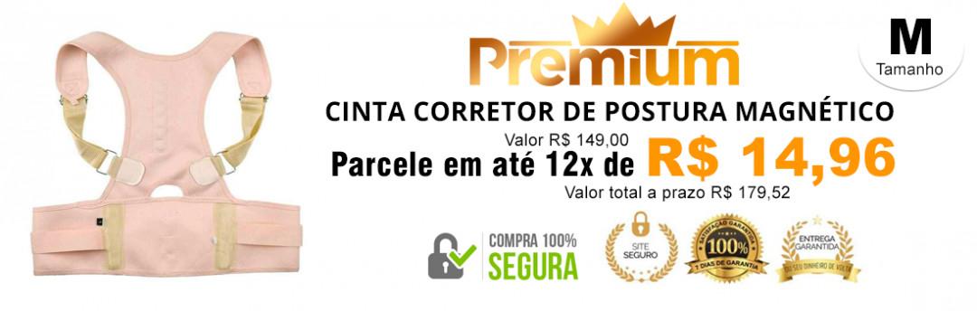 Cinta Corretor De Postura Magnético Unissex Flex Premium
