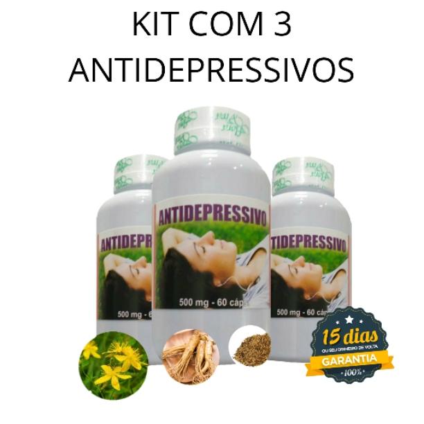 Kit 3 frascos Antidepressivo